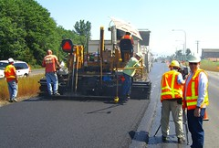 KING 5 TV films paving on SR 20 in Burlington