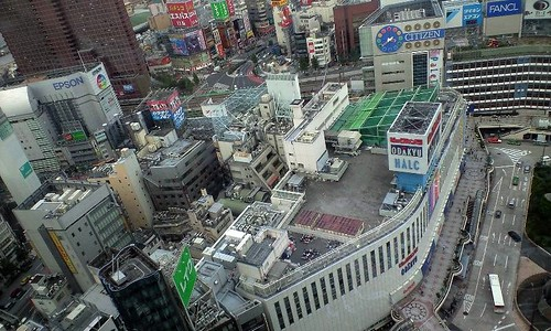 Shinjuku Station on bird-view