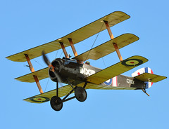 Sopwith Tri-Plane finds some blue.. (mickb6265) Tags: old summer fighter display air collection explore ww1 warden shuttleworth sopwith triplane 070609