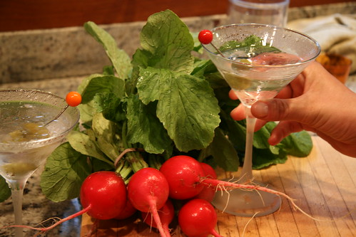 martinis and radish