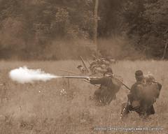 Gettysburg 27th Indiana Infantry (gotbob) Tags: sepia canon war uniform gettysburg civil battlefield reenactor slidr