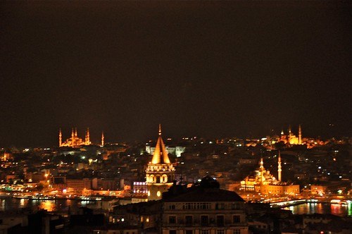 Old part of Istanbul view from Mikla Restaurant
