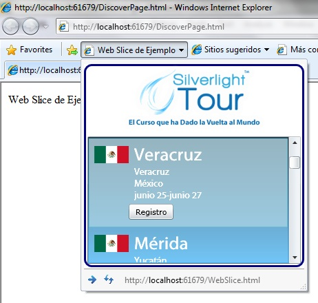 Web Slice con Silverlight
