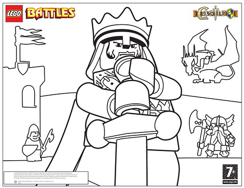 lego castle coloring pages print - photo#10