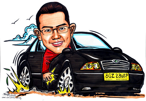 Skoda Octavia car caricature