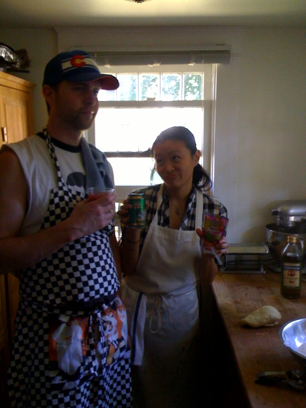 Jeff and I, Sunday barbecue stylz