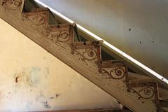 Stair detail (Black.Doll) Tags: brick abandoned alabama plantation tinroof blackbelt greekrevival 1845 dallascounty elmbluff silentintheland blackbeltofalabama