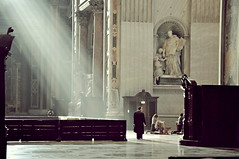 (emmakatka) Tags: city italy sun sunlight vatican rome st basilica rays peters