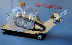 The Trojan Slug (V&A Steamworks) Tags: iron lego snail va slug trojan steamworks builder moc