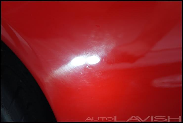 Ferrari Scud DA sanding marks
