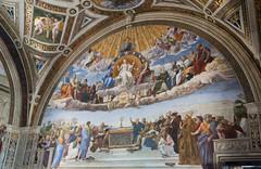 Disputation of the Holy Sacrament - fresco by Raphaelo, Stanza della Segnatura, Museum Vaticano