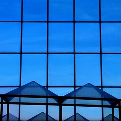 M (Lord Jezzer) Tags: blue black color reflection geometric window square triangle angle pyramid geometry crosses line m rectangle bicolor colorphotoaward geometricappreciationmonth justtoseewhatitslike