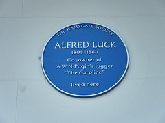 Photo of Alfred Luck blue plaque
