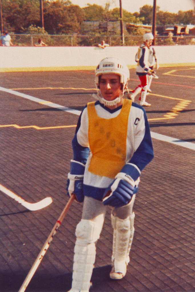 Playing Deck Hockey Early 1980s