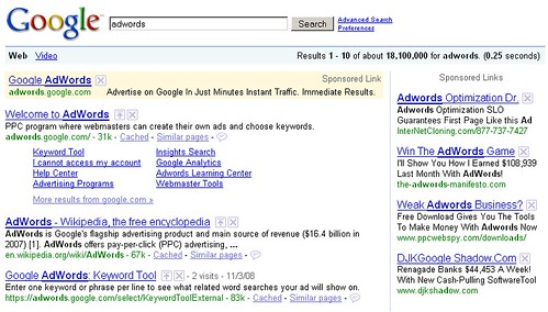 SearchWiki on Google AdWords ads