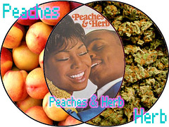 20090204 - Venn Diagram - Peaches & Herb (Rev. Xanatos Satanicos Bombasticos (ClintJCL)) Tags: music food fruit peach entertainment diagram peaches marijuana venn 2009 herb venndiagram byclint peachesherb 200902 20090204
