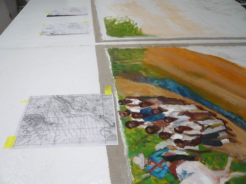 Sketch and painting detail