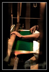 saree weaver (Archana Ramaswamy) Tags: green silk textiles saree weaving sari ramaswamy pattu archana dementa archanaramaswamy