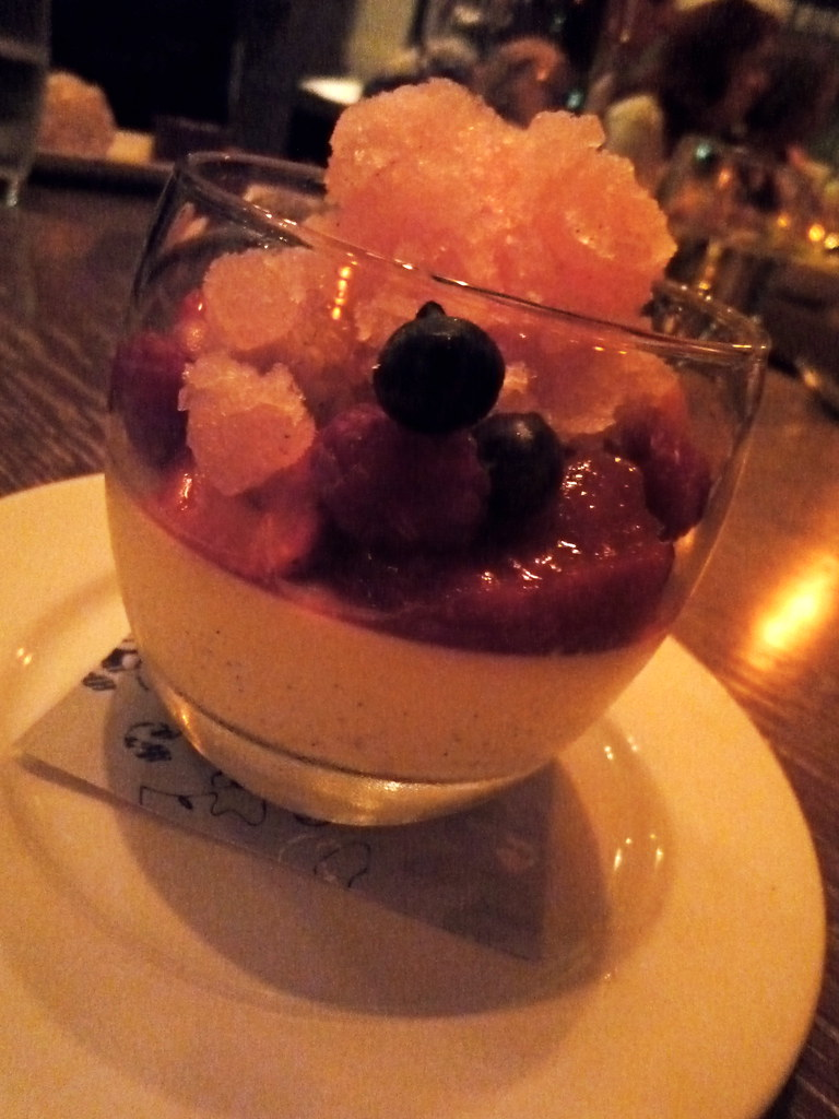 Pannacotta, summer berries, champagne granita