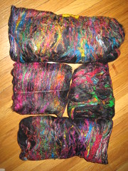 Wool and silk batts
