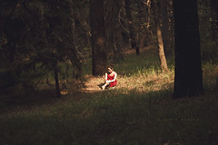 Alone again (claudia.susana) Tags: trees light sun nature grass forest mexico outdoors 50mm ana df mood alone quiet warmth bodylanguage story bosque silence mysterious distritofederal nikond60 claudiasusana