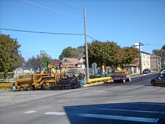 Seasonal street maintenance on Fullerton Avenue. Elmwood Park illinois. Early October 2007.
