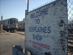 CTA Desplaines Shop, Forest Park, IL (katherine of chicago) Tags: signs cta forestpark desplainesshop