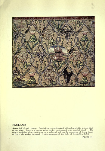 019-Lienzo bordado con hilos de seda Inglaterra siglo XVI