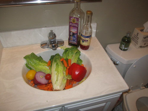 bathroom salad