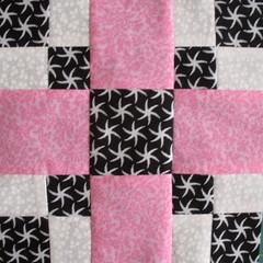 Pink + Black & White + White