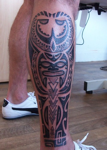 Tribal Leg Tattoo by Classic Ink Tattoo Studio