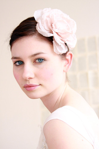 Anna wearing a lovely twigs & honey handmade silk flower