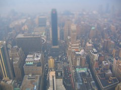 Another attempt at fake tilt shift, NYC from Empire State Building (Dave DiCello) Tags: christmas new york city nyc newyorkcity winter building up photoshop landscape miniature big high nikon cityscape state cs2 small fake shift tiny citylights empire hudsonriver nikkor tilt bigapple newyorknewyork bigcity tiltshift thebigapple d40 timessquarenewyork d40x evad310 davedicello