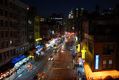 nighttime chinatown from manhattan bridge by Zemlinki!, on Flickr