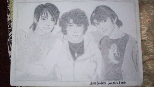 jonas brothers drawing