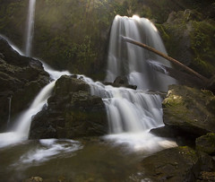 Lower Little Mashel Falls (Ar'alani) Tags: longexposure nature landscape waterfall washington falls lower sunbeams eatonville bushwhack hoyamoose littlemashel