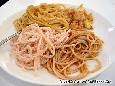 Different kinds of spaghetti