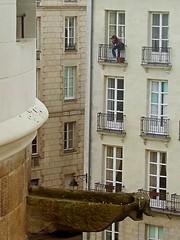 Chateau View (Lydie's) Tags: france castle girl architecture femme gargoyle balconies chateau nantes fenetres frenchwindows chateaudesducsdebretagne