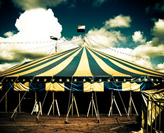 The Circus (Lella Sodr ) Tags: city blue brazil color art yellow brasil circo circus assis picadeiro platinumheartaward lellasodr