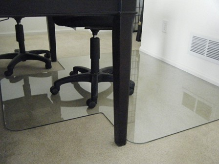 The GlassMat office chair mat