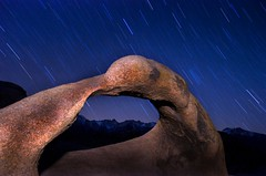 The Time Portal (Matt Granz Photography) Tags: california longexposure wallpaper lightpainting nature rock stone night landscape nikon desert boulder mountwhitney startrails inyo d90 mobiusarch elitephotography