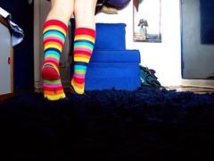 Puket (R. Priolli) Tags: verde socks azul cores floor legs laranja rosa vermelho amarelo pernas meia cho meiacolorida