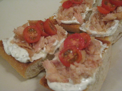 Smoked Trout Toasts