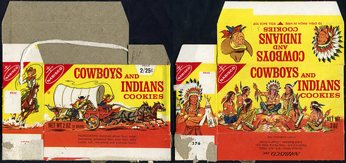 Nabisco Cowboys and Indians Cookies box - 1971