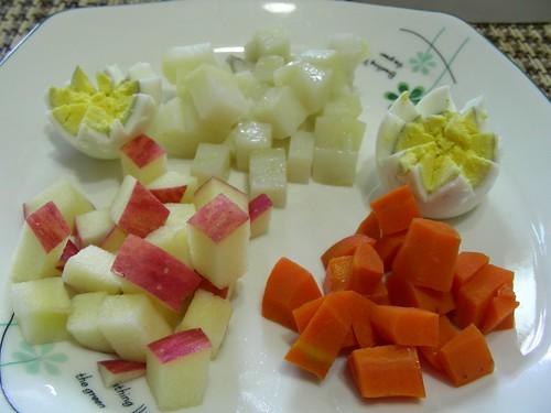 薯泥蛋沙拉早餐材料