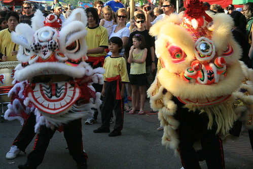 Dragon and Lion Dancers Mindil  Beach Market