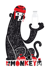 DO THE MONKEY (- Ti -) Tags: red white black monkey do ti ve