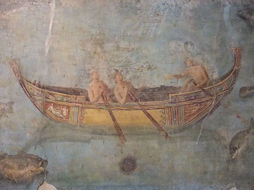 Frescoes of Marine Life found on a wall along the via La Portuense in the river port of San Paolo Rome 125-150 CE (4) by mharrsch.