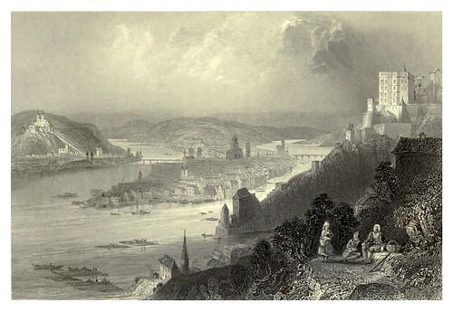 009- Vista de la union del Danubio con el rio Inn-Passau 1844