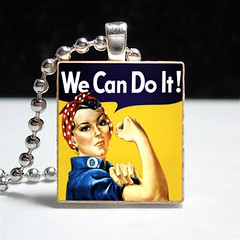 Rosie the Riveter We Can Do It Pendant